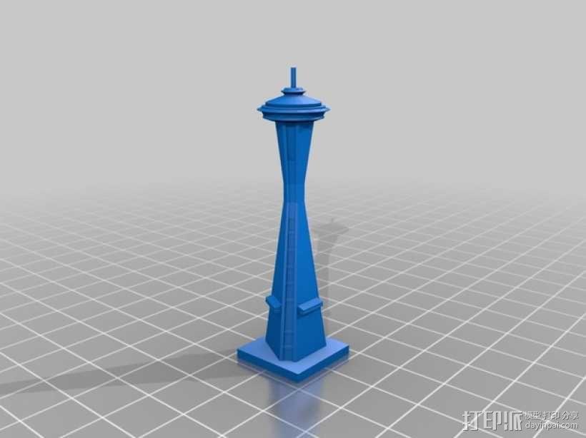 太空针塔 3D模型  图2
