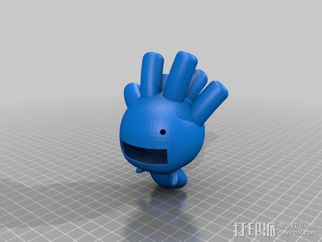 豆芽小文 3D模型  图4