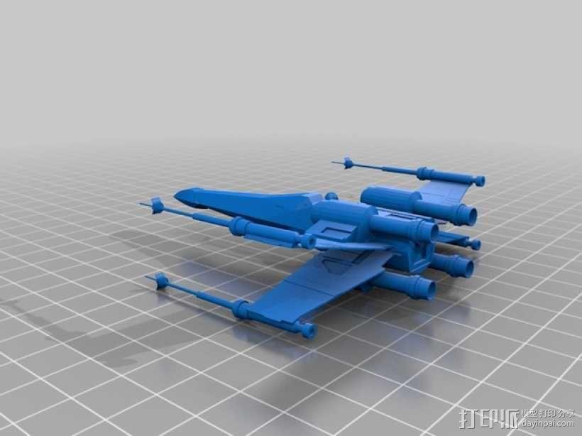 星际之战X翼战机 3D模型  图1