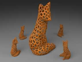 镂空狐狸 3D模型
