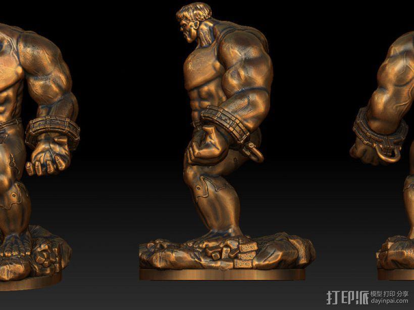 绿巨人浩克模型 3D模型  图8