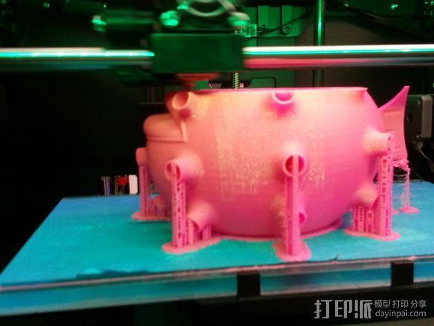 河豚笔筒 3D模型  图5