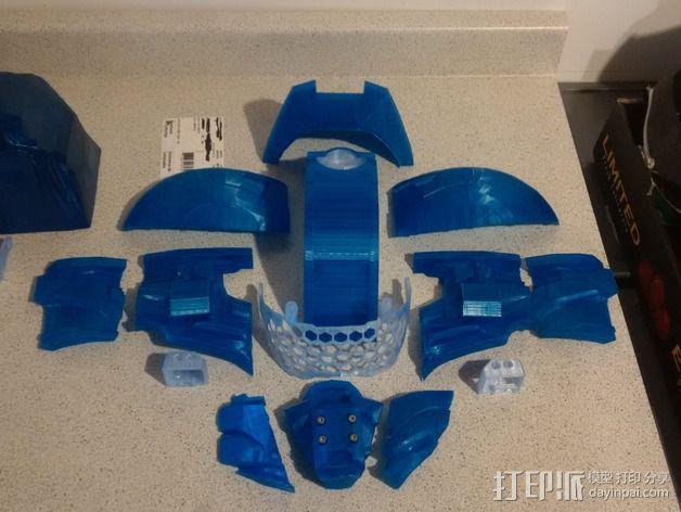 光晕4 头盔 3D模型  图5