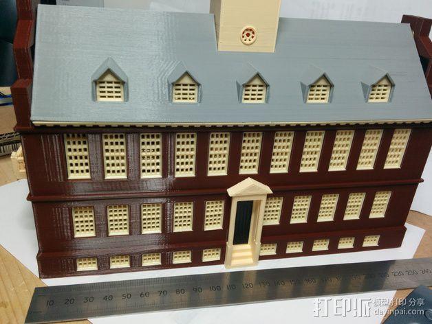 波士顿议会大厦 3D模型  图2