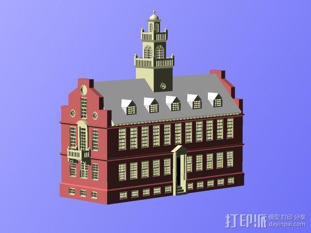 波士顿议会大厦 3D模型  图5