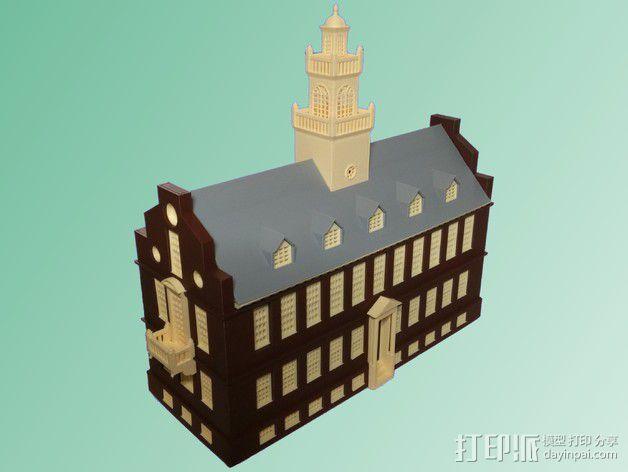 波士顿议会大厦 3D模型  图4