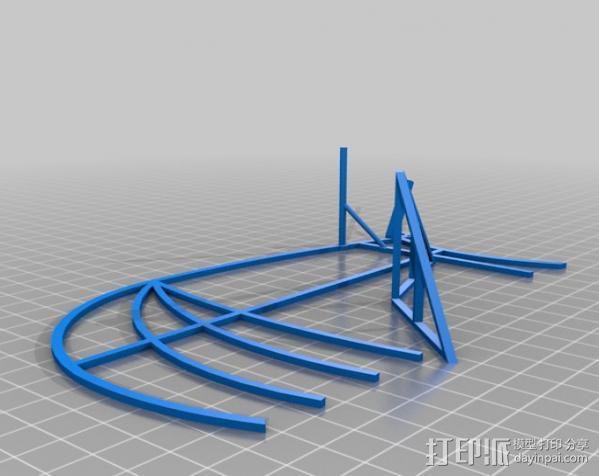 达芬奇扑翼机 3D模型  图3