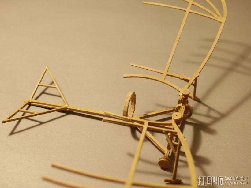 达芬奇扑翼机 3D模型  图2