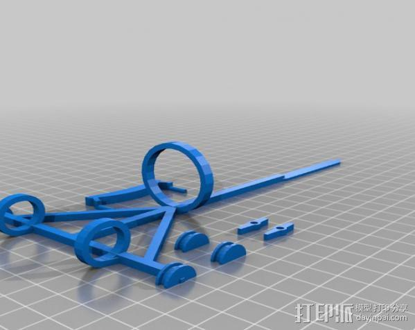 达芬奇扑翼机 3D模型  图4