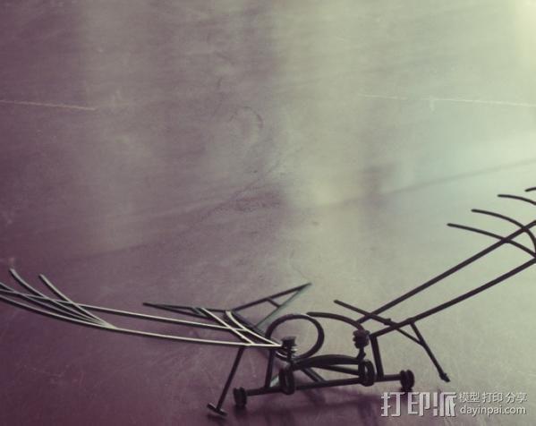 达芬奇扑翼机 3D模型  图8
