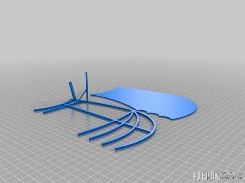 达芬奇扑翼机 3D模型  图12