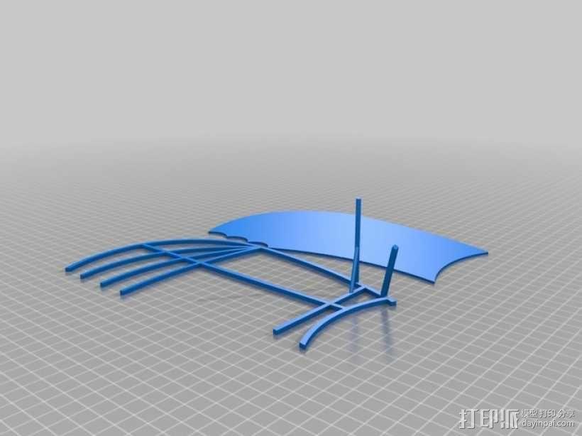 达芬奇扑翼机 3D模型  图11