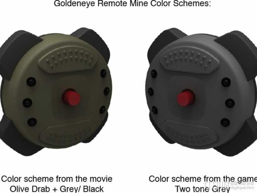 Goldeneye 007遥控地雷 3D模型  图9