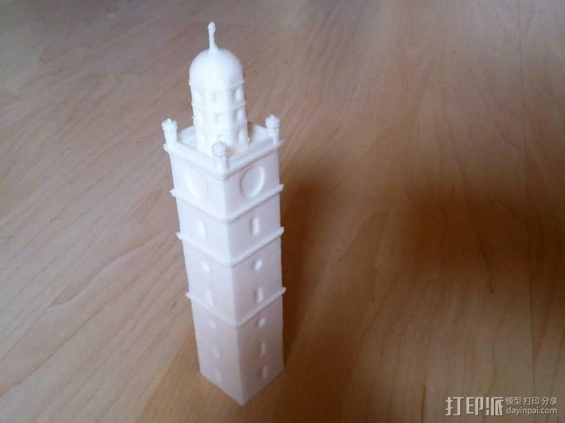 雷根斯堡Blaserturm 塔 3D模型  图1