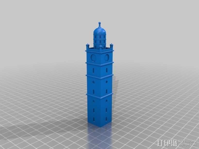 雷根斯堡Blaserturm 塔 3D模型  图2
