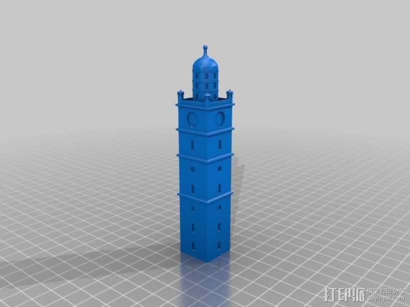 雷根斯堡Blaserturm 塔 3D模型  图3