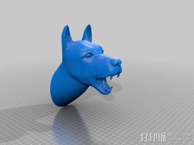 狗头模型 3D模型  图3