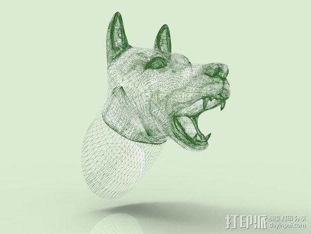 狗头模型 3D模型  图4