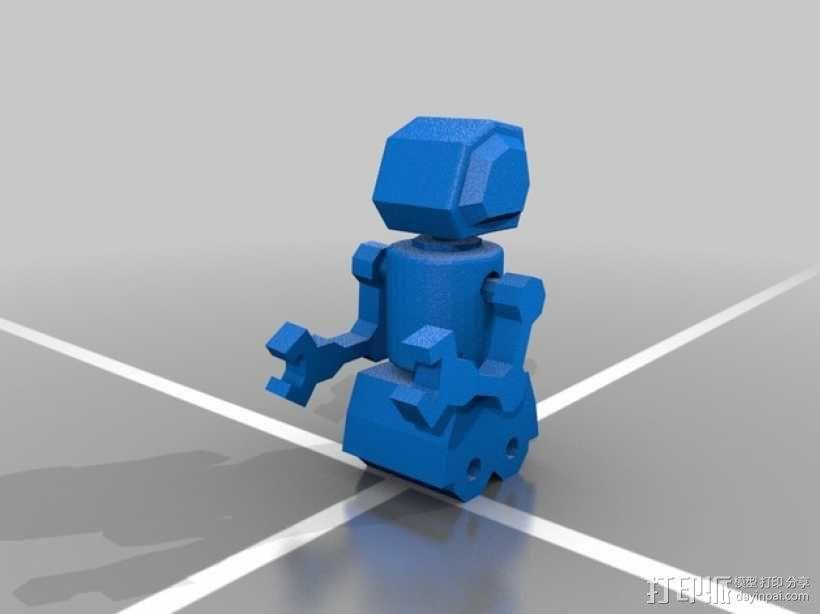迷你机器人  3D模型  图1