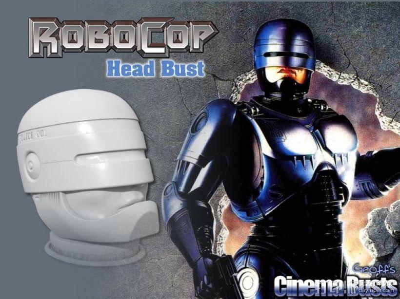 机械战警半身像 3D模型  图1