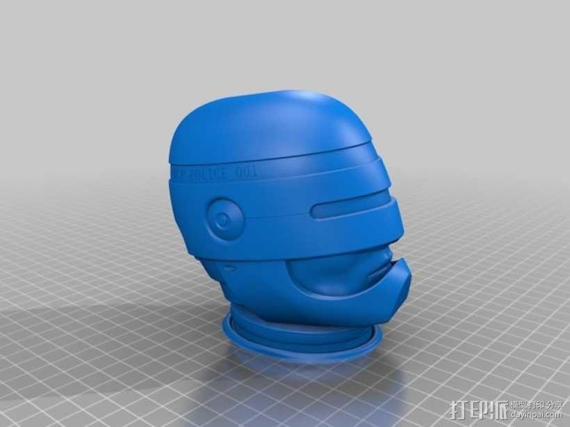 机械战警半身像 3D模型  图4