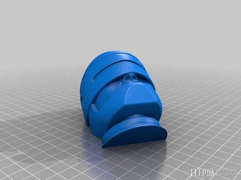 机械战警半身像 3D模型  图5
