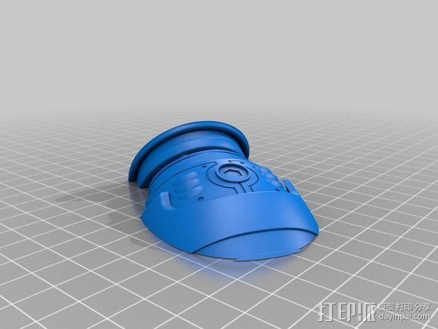 机械战警半身像 3D模型  图6