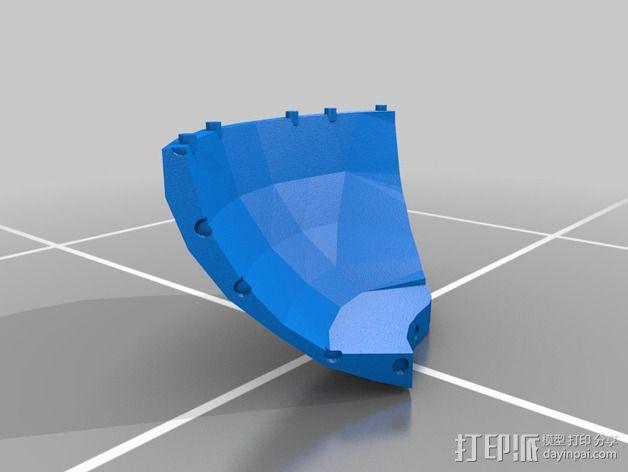 蠢朋克头盔 3D模型  图2