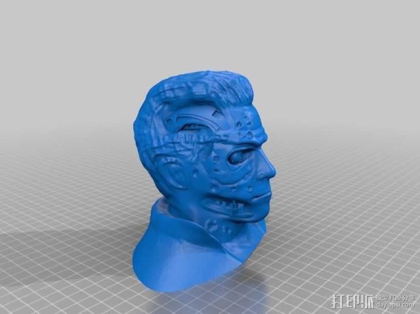 终结者半身像  3D模型  图2