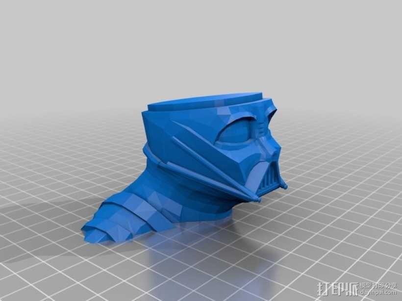 黑武士达斯·维德头像模型 3D模型  图2