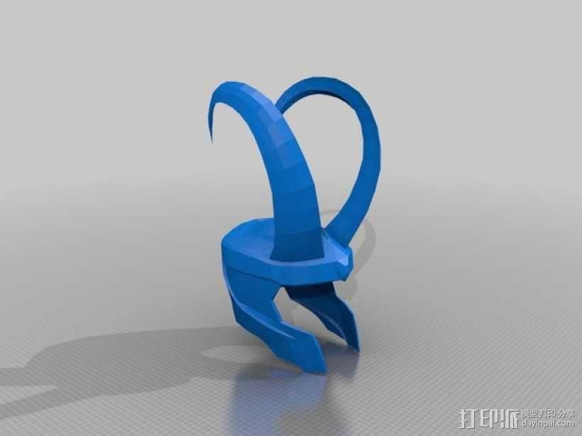 洛基头盔 3D模型  图2