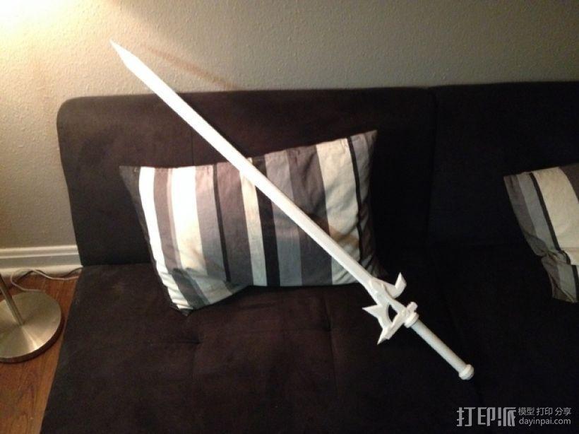 阐释者单手黑剑 3D模型  图1
