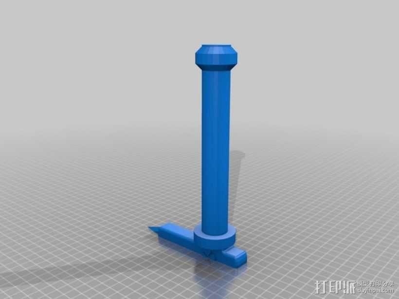 阐释者单手黑剑 3D模型  图2