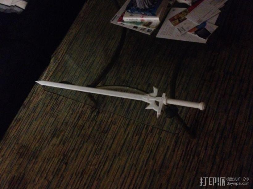 阐释者单手黑剑 3D模型  图4