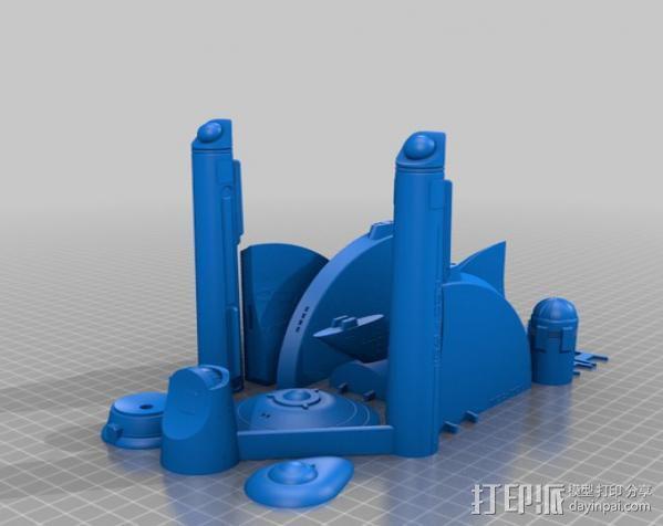 星际飞船模型 3D模型  图2