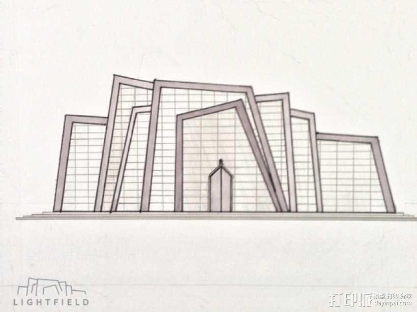 Lightfield 大厦 3D模型  图3
