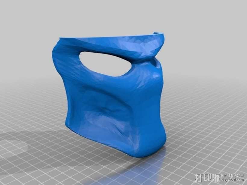 铁血战士面具 3D模型  图3