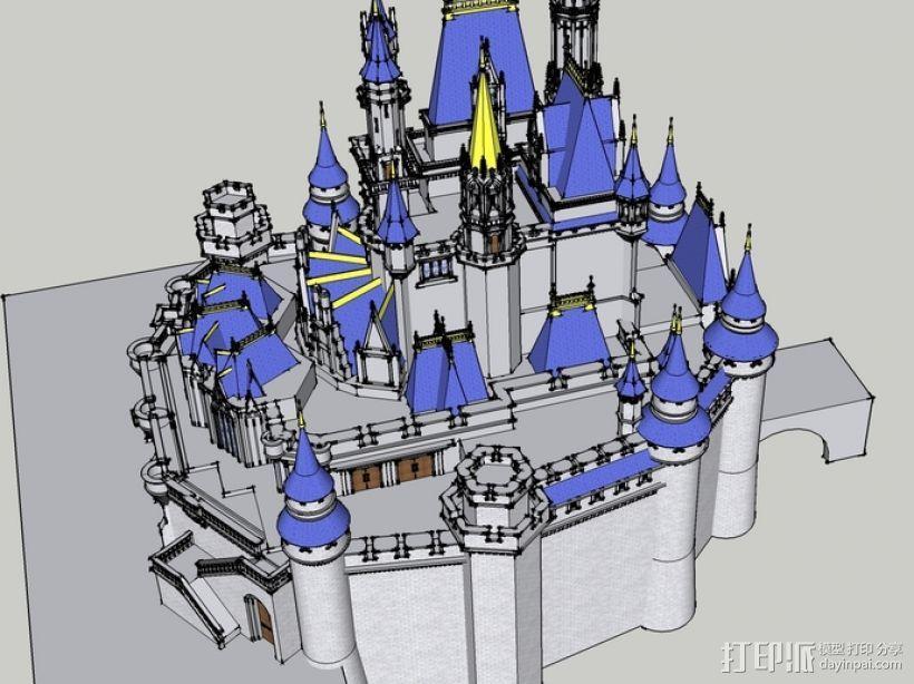 迪士尼城堡  3D模型  图2