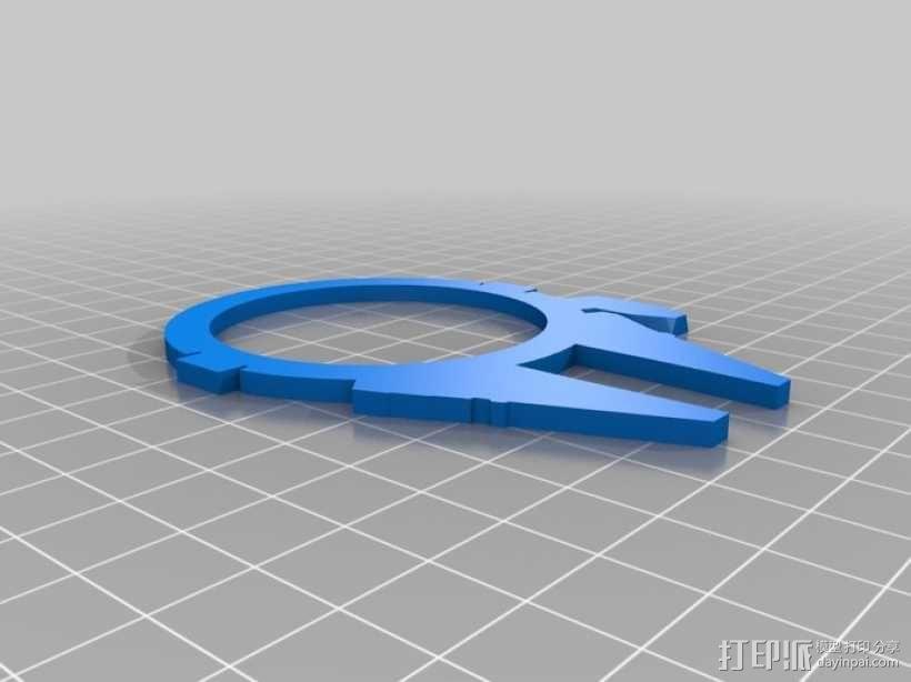千年隼号星际飞船 3D模型  图2