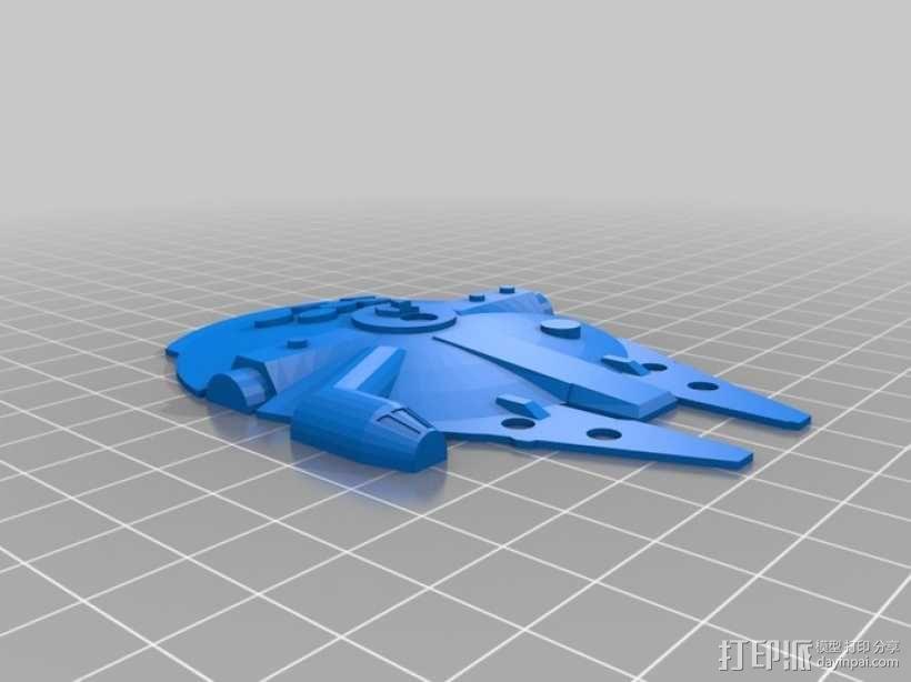 千年隼号星际飞船 3D模型  图1
