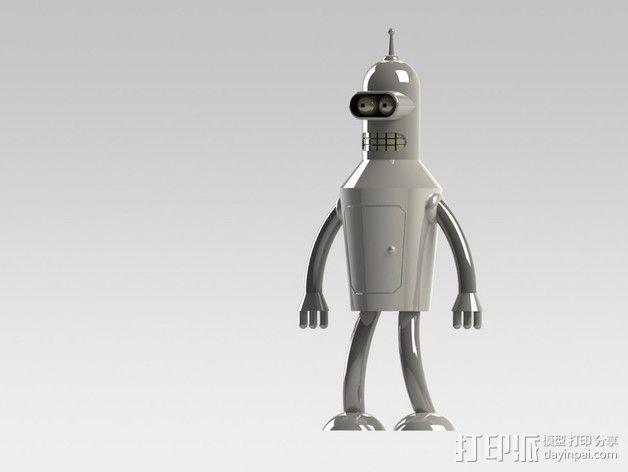 Bender Bending Rodríguez玩偶  3D模型  图2