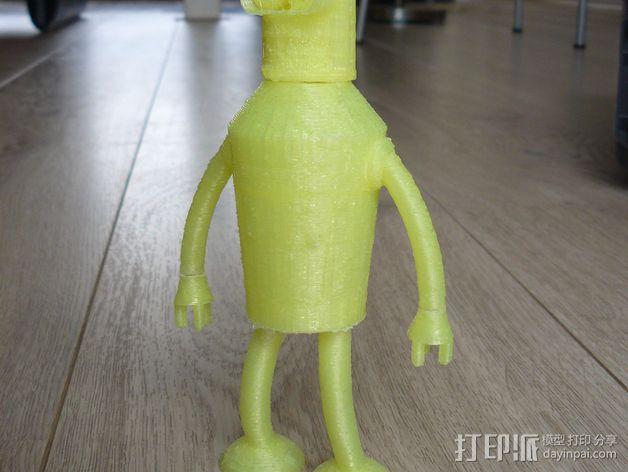 Bender Bending Rodríguez玩偶  3D模型  图7