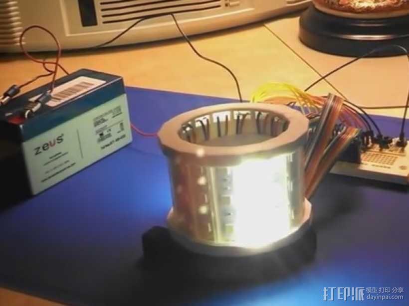 LED灯外罩 保护罩 3D模型  图1