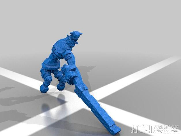 巨像雕塑 3D模型  图1