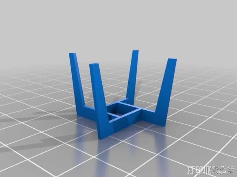 圆形咖啡桌 3D模型  图1