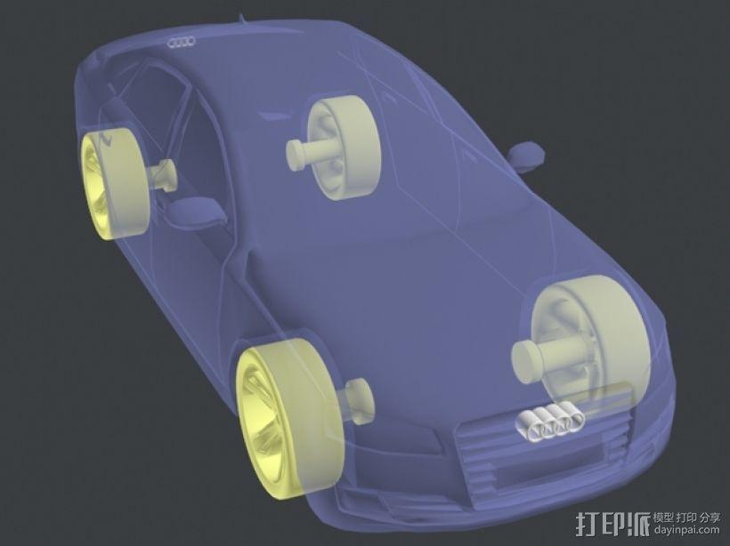 Audio A8奥迪A8汽车 3D模型  图3
