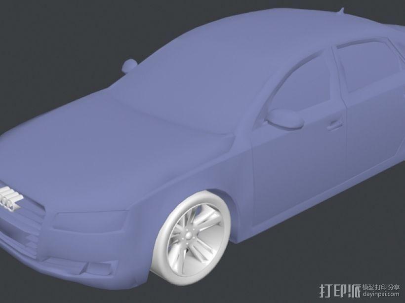 Audio A8奥迪A8汽车 3D模型  图2