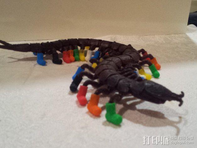 穿着鞋子的蜈蚣 3D模型  图3