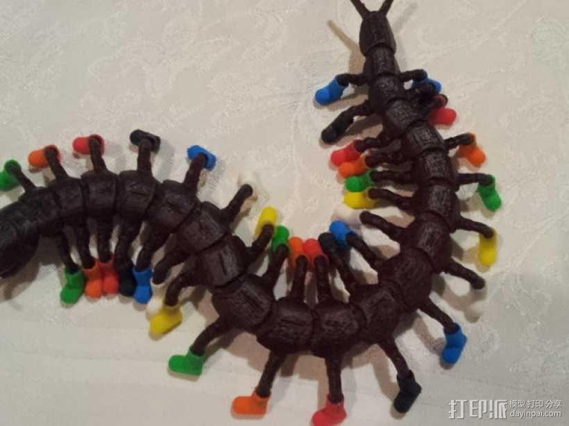 穿着鞋子的蜈蚣 3D模型  图1