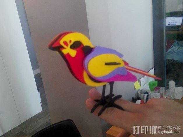五彩小鸟 3D模型  图4